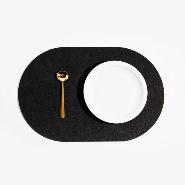 Slash Objects Capsule Placemat in Pure Black Slash Objects