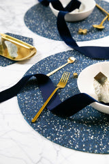 Slash Objects Round Placemat in Royal Slash Objects-12806595379263