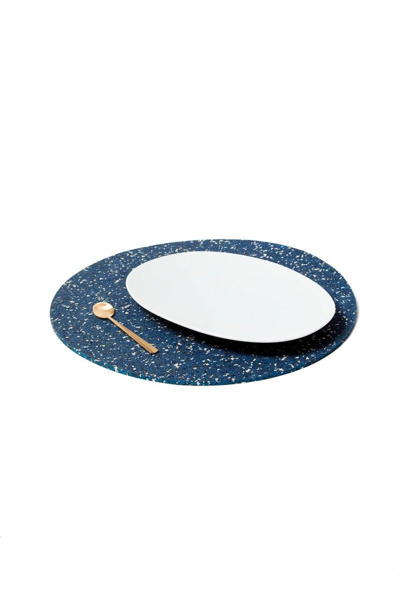 Slash Objects Round Placemat in Royal Slash Objects