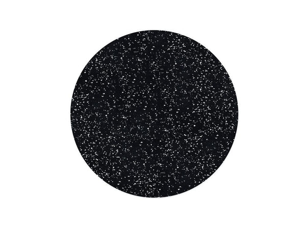 Slash Objects Round Placemat in Speckled Black Slash Objects