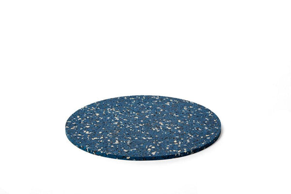 Slash Objects Round Rubber Trivet in Royal Slash Objects