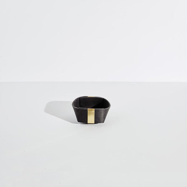 Slash Objects Rubber and Brass Basket Set in Pure Black Slash Objects