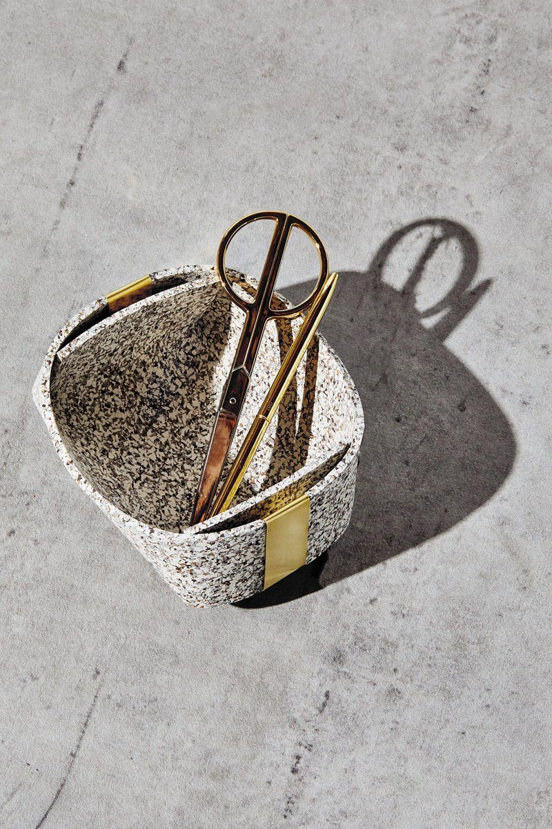 Slash Objects Rubber and Brass Baskets in Sand Slash Objects