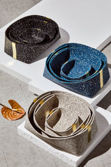 Slash Objects Rubber and Brass Baskets in Speckled Black Slash Objects-12806567755839