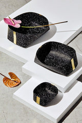 Slash Objects Rubber and Brass Baskets in Speckled Black Slash Objects-12806550782015