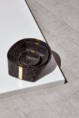 Slash Objects Rubber and Brass Baskets in Speckled Black Slash Objects-12806607306815