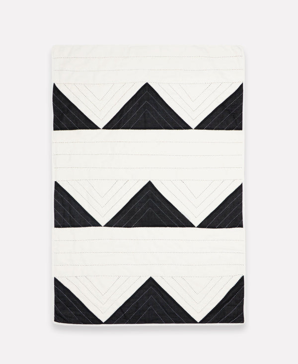Small Triangle Quilt Throw - Slate Anchal Project