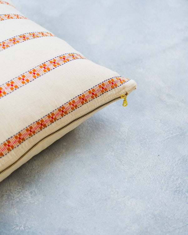 Soil to Studio Asima - Organic Cotton Handwoven Pillow Pillows Soil to Studio