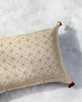 Soil to Studio Avani - Linen Hand Embroidered Pillow Pillows Soil to Studio -14246737707071