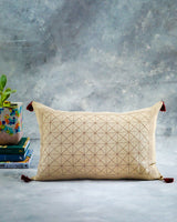 Soil to Studio Avani - Linen Hand Embroidered Pillow Pillows Soil to Studio -14246702481471