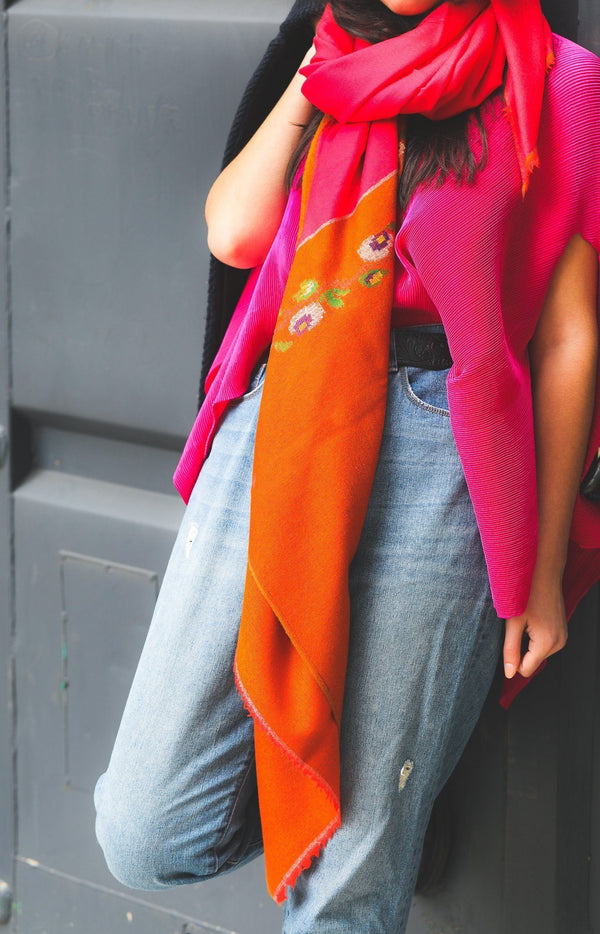 Soil to Studio Sushmita - Handwoven Color Blocked Merino Scarf Scarfs Soil to Studio
