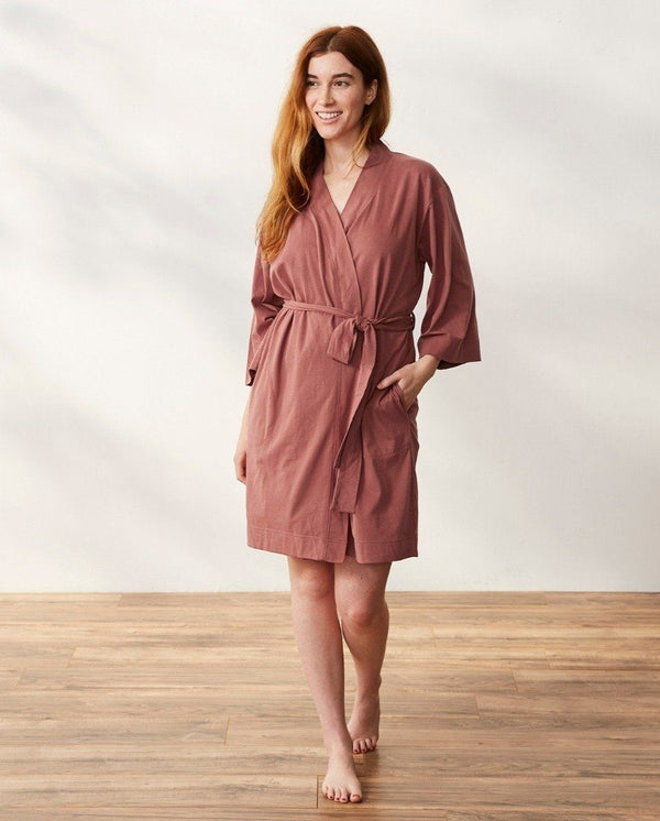 Solstice Short Robe - Rosehip Women's Clothing Coyuchi