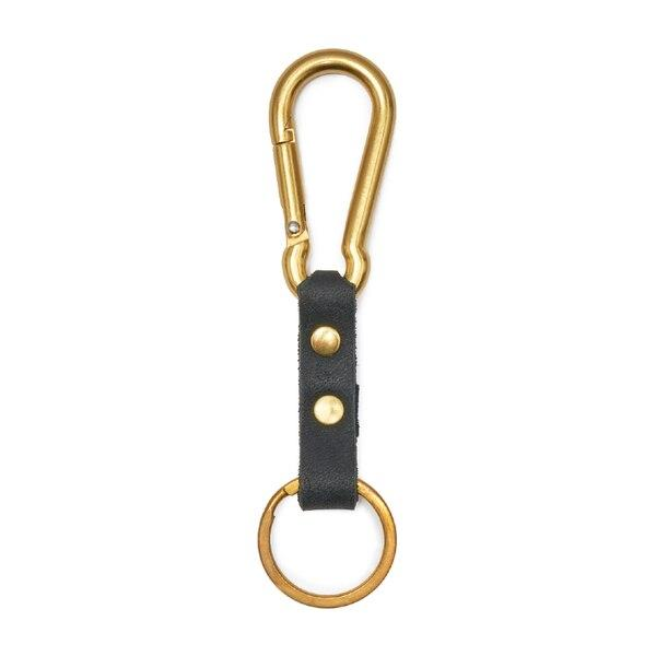 Son of a Sailor Alfa Carabiner / Black Leather And Brass Son of a Sailor