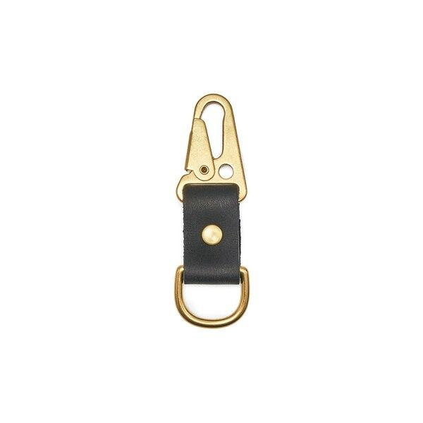 Son of a Sailor Alfa Clip Fob / Black Leather And Brass Son of a Sailor