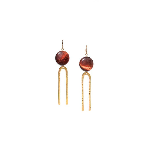 Son of a Sailor Frances Earrings - Red Tiger Eye Son of a Sailor