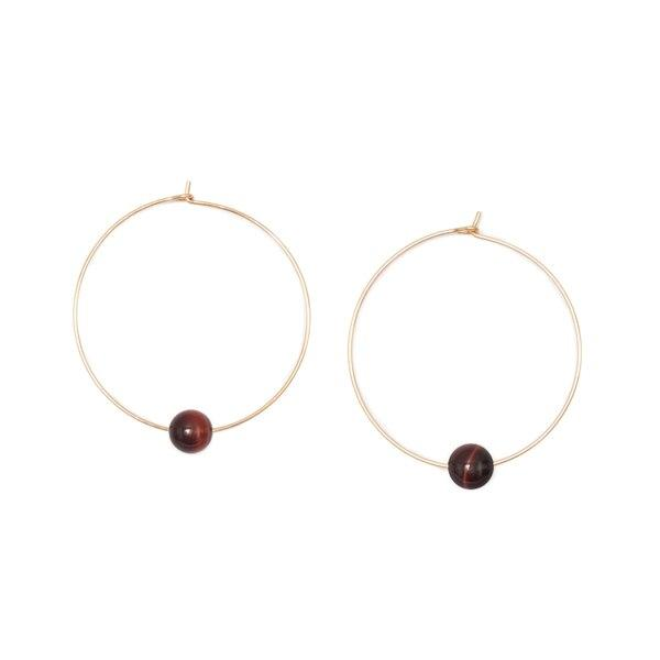 Son of a Sailor Septima Hoop Earring / Red Tiger Eye Son of a Sailor
