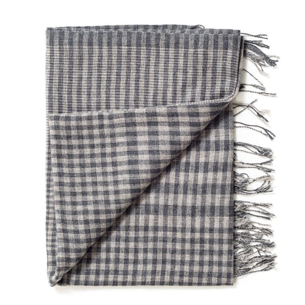 Studio Variously Carbon Checks Scarf Studio Variously