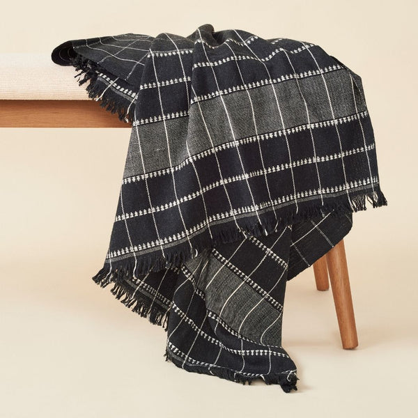 Studio Variously Charco Organic Cotton Throw Studio Variously