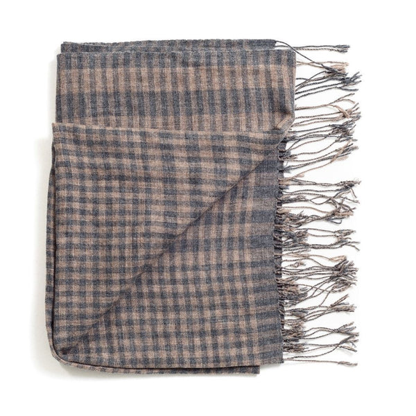 Studio Variously Fawn Checks Scarf Studio Variously