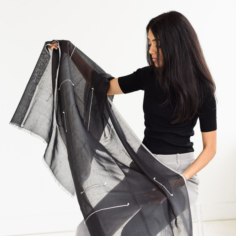 Studio Variously Ink Mist Scarf Studio Variously