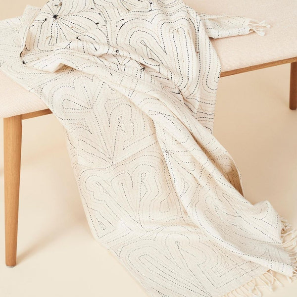 Studio Variously Katha Organic Throw Blanket Studio Variously