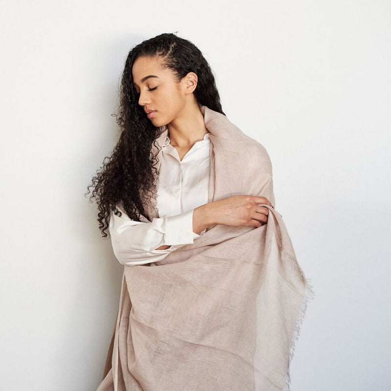 Studio Variously Linen Scarf - Oat Scarves Studio Variously