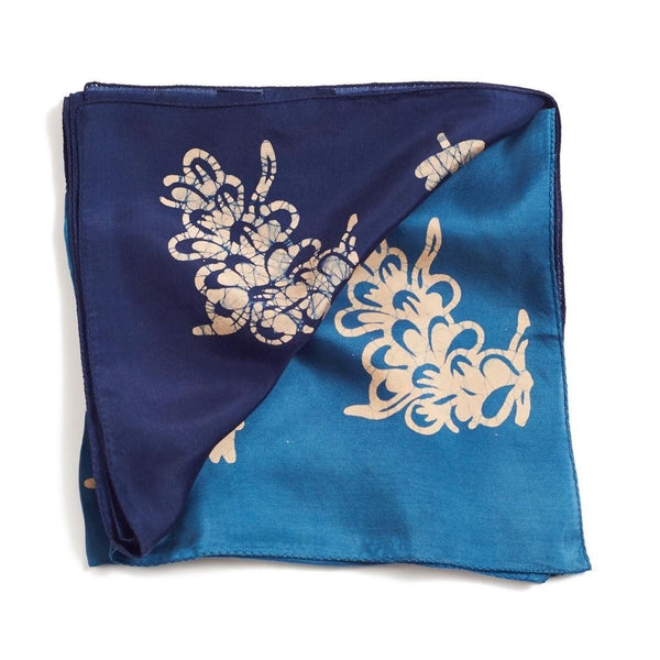 Studio Variously Oraa Indigo Silk Scarf Studio Variously