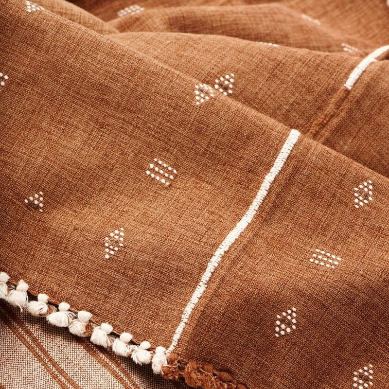 Studio Variously Reyti Organic Throw Blanket Studio Variously