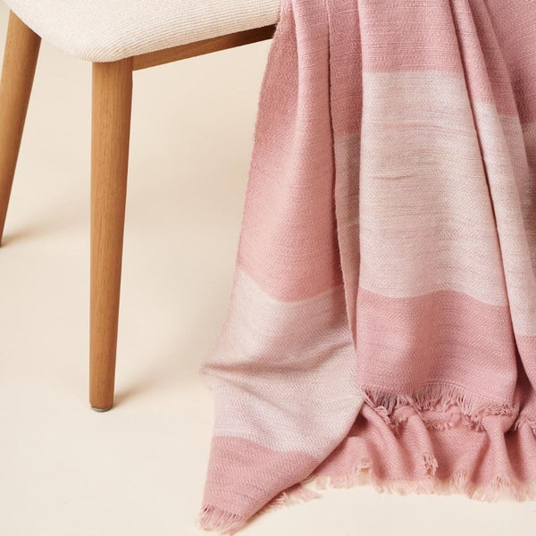 Studio Variously Rosa Merino Throw Blanket Bedding and Bath Studio Variously