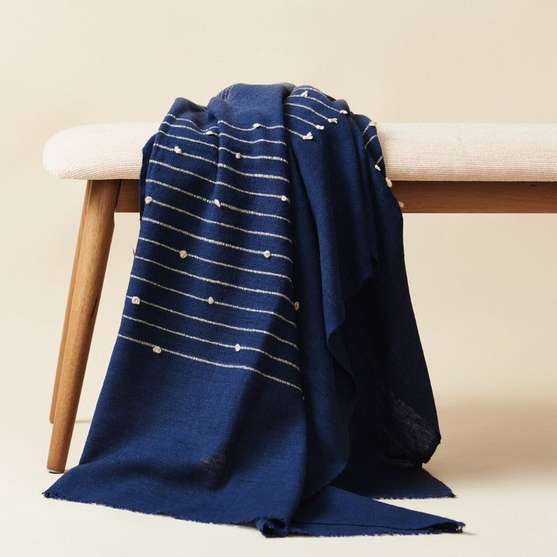 Studio Variously Rosewood Indigo Throw Blanket Bedding and Bath Studio Variously