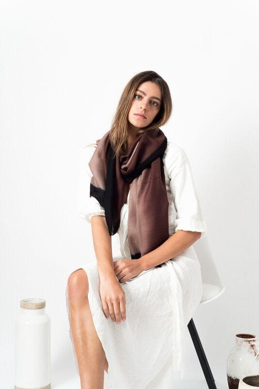 Studio Variously Umbra Mink Cashmere Scarf Studio Variously