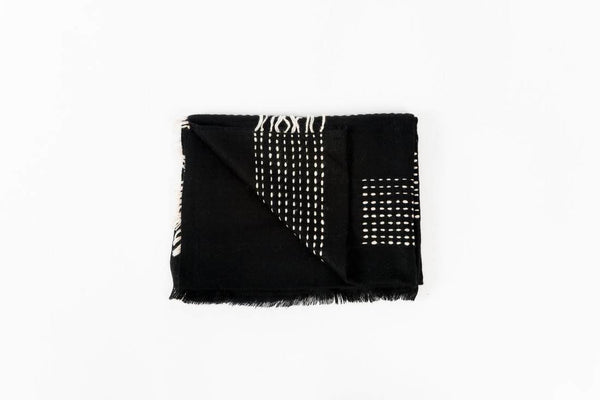 Studio Variously Walnut Black Throw Studio Variously