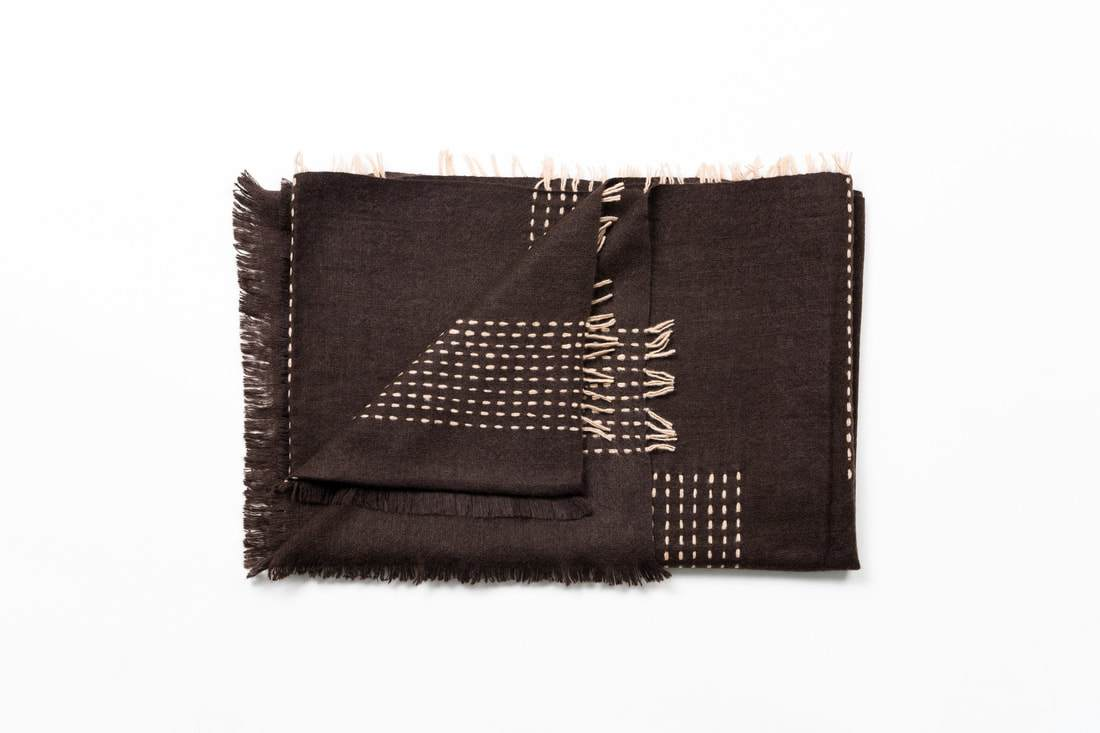 Studio Variously Walnut Brown Throw Studio Variously