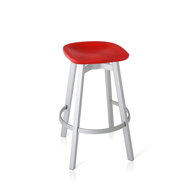 Su Barstool - Aluminum Frame Furniture Emeco Red