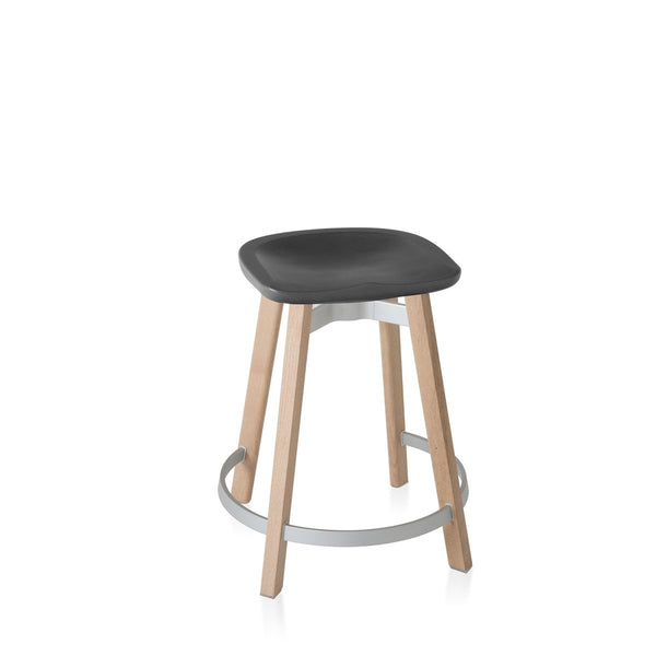 Su Counter Stool - Wood Frame Furniture Emeco Charcoal