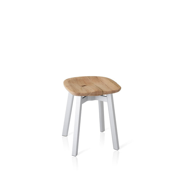 Su Small Stool - Aluminum Frame Furniture Emeco Reclaimed Oak