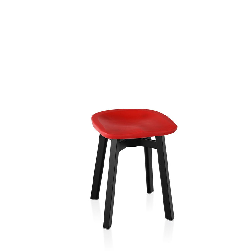 Su Small Stool - Black Frame Furniture Emeco Red