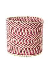 Swahili African Modern Berry and Natural Maila Milulu Reed Basket Swahili African Modern -15435370463295