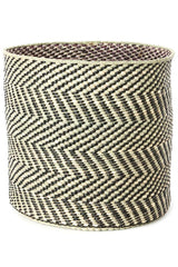 Swahili African Modern Black and Natural Maila Milulu Reed Basket Swahili African Modern -15435371151423