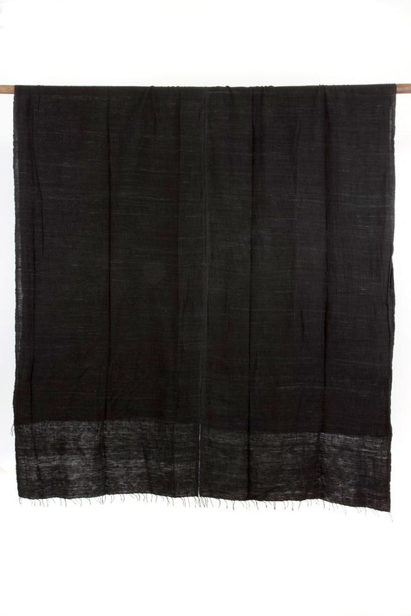 Swahili African Modern Black Gabi Tablecloth or Throw Made Trade