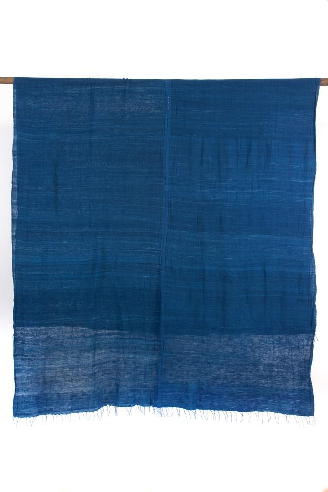 Swahili African Modern Dark Blue Gabi Tablecloth or Throw Swahili African Modern