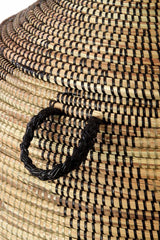 Swahili African Modern Extra Large Black and Gold ZigZag Hamper Swahili African Modern-5010948587583