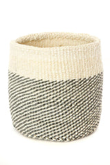 Swahili African Modern Gray and Cream Twill Nesting Baskets - Set of 3 Swahili African Modern -14999758143551
