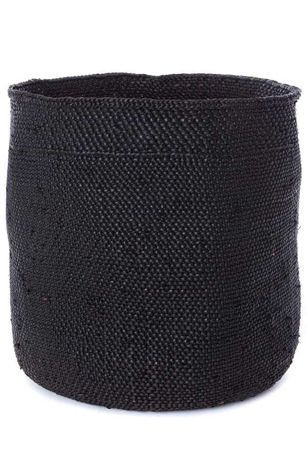 Swahili African Modern Iringa Baskets - Solid Black Swahili African Modern