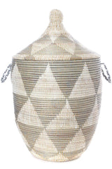 Swahili African Modern Large Silver Triangle Laundry Hamper Swahili African Modern -14634702405695