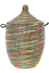 Swahili African Modern Sable Swirl Large Laundry Hamper Basket Swahili African Modern -15350013526079