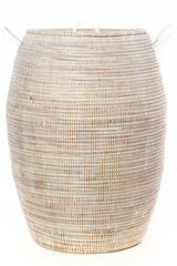 Swahili African Modern Senegalese Tall White Bongo Hamper Basket Swahili African Modern-11737203343423
