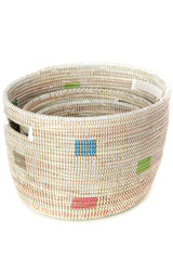 Swahili African Modern Set of Three Prismatic Pixels Sewing Baskets Swahili African Modern-11737217204287