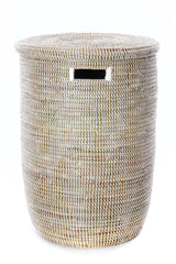 Swahili African Modern Set of Three Solid White Classic Hampers Swahili African Modern -14635662475327