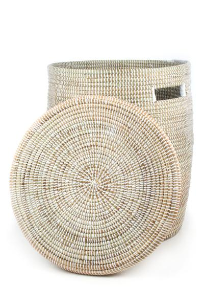 Swahili African Modern Solid White Peace Corps Hamper Swahili African Modern